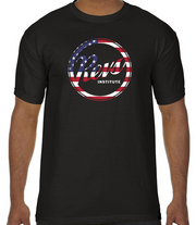 Revs American Flag Logo T-shirt - Black