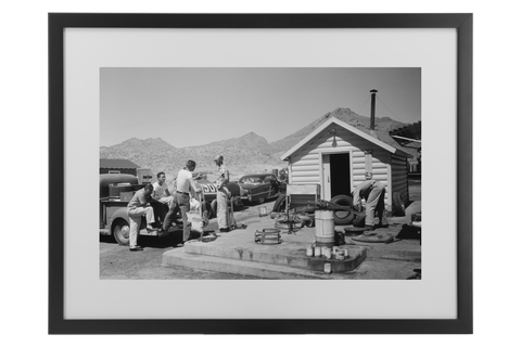 Bonneville Salt Flats 1957 Framed Matted Print