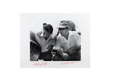 Ferrari 4.9L, Luigi Chinetti, Sr. and Carroll Shelby - Original Tom Burnside Photographic Print