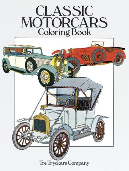 Classic Motorcars Coloring Books
