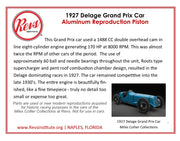 1927 Delage Grand Prix Car Steel Intake Valve