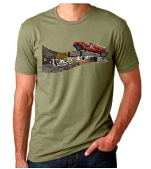 Revs Automotive Treasures T-shirt - Light Olive