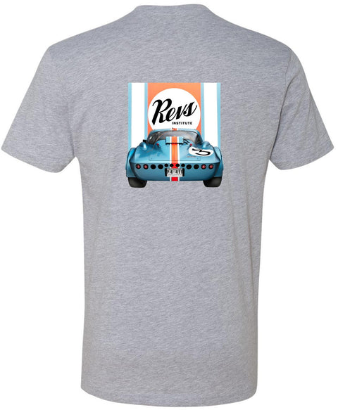 Revs Institute 1963 Chevrolet Corvette Grand Sport T-shirt - Heather Grey