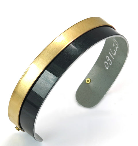 Jaguar F-Type British Racing Green/Brass Cuff by CRASH Jewelry