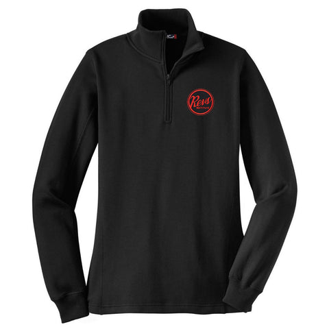 Revs Ladies 1/4 Zip Fleece - Black