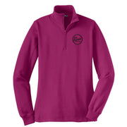 Revs Ladies 1/4 Zip Fleece - Pink Rush