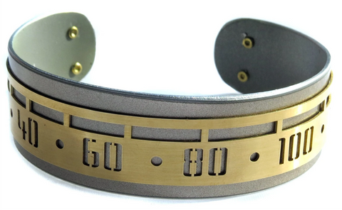 Porsche Speedometer Cuff by CRASH Jewelry - Horizontal Lines