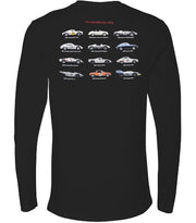 Revs Institute Porsche Long Sleeve T-shirt - Black