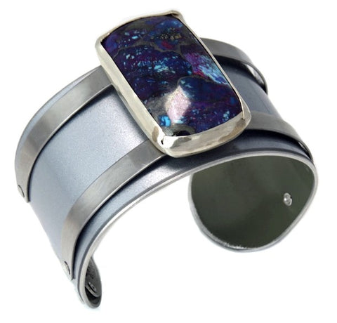Porsche Panamera Cuff with Purple Turquoise by CRASH Jewelry