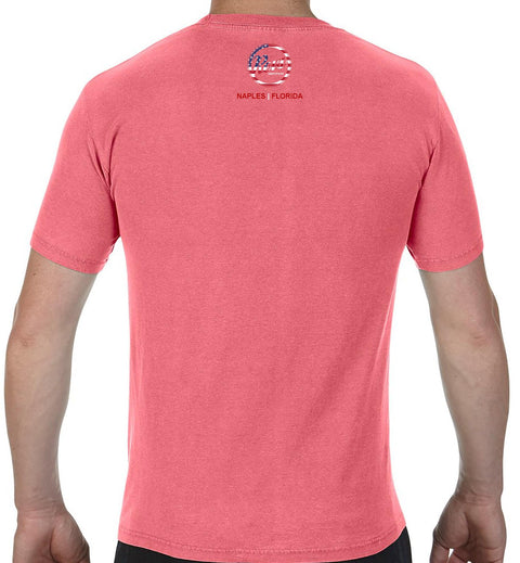 Revs American Flag Logo T-shirt - Watermelon