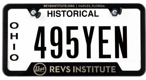 Revs Custom Laser Etched Black Powder Coated License Plate Frame