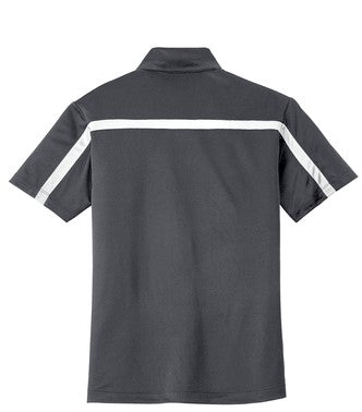 Revs Mens Performance Polo - Steel Grey/White