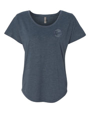 Revs Institute Ladies Tri-blend Top - Vintage Navy