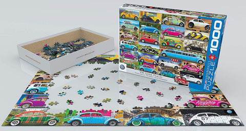 VW Beetle Gone Places 1000-Piece Puzzle