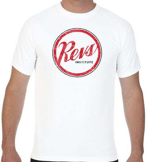 Revs Distressed Logo T-shirt - White