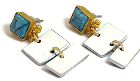 Porsche Carrera Rectangle Earrings by CRASH Jewelry