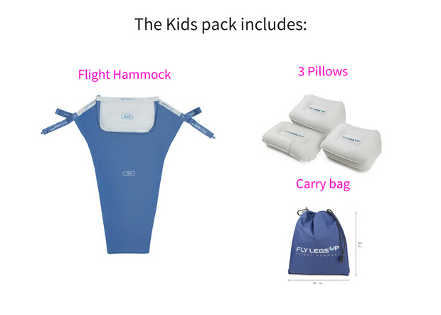 Fly LegsUp for Kids contents.