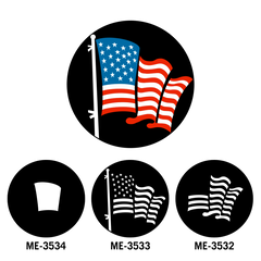 Apollo American Flag White (Pair with ME-3532, ME-3534) Gobo