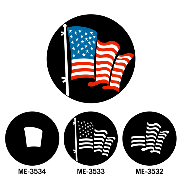 Apollo American Flag Red (Pair with ME-3533, ME-3534) Gobo