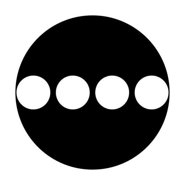 Apollo Dots - Four in a Line Gobo