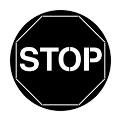 Apollo Stop Sign Gobo