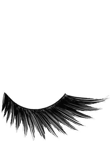 Kryolan Eyelash: Stargirl - Black Sweep (Long)