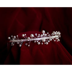 Rhinestone Tiara with Pearls