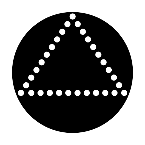Apollo Dots Triangle Gobo