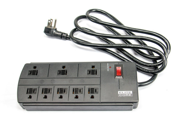 Elite Core SP8-SURGE Stage Power Strip with Surge Protection 8 Outlets