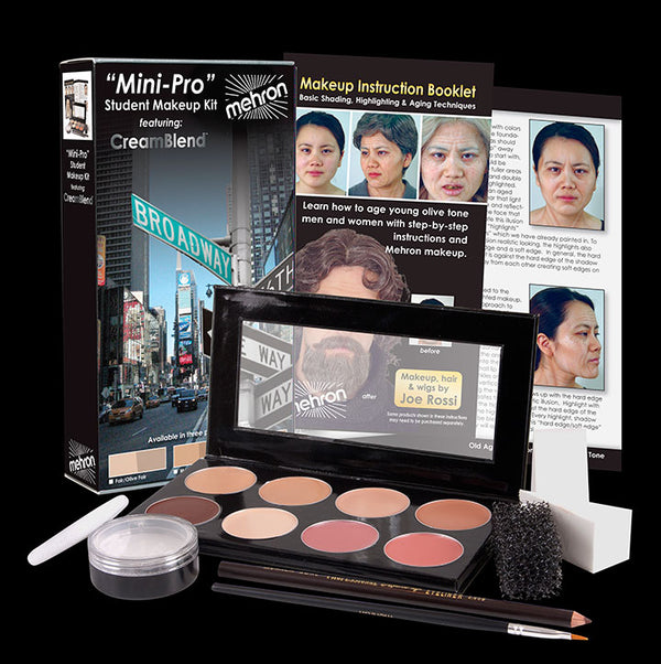 Mehron Mini-Pro Student Makeup Kit - Medium/Olive Medium