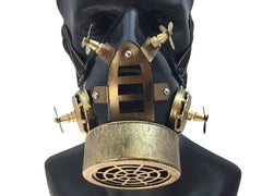 Gold Steampunk Gas Mask