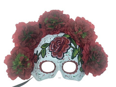 White Sugar Skull with Roses