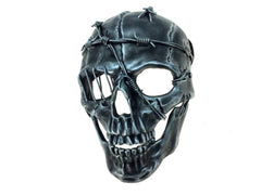 Black and Silver Skeleton Mask