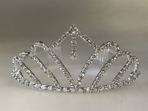 Rhinestone Tiara with Dangling Stone