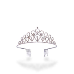 Rhinestone Tiara with Tear Drop Design