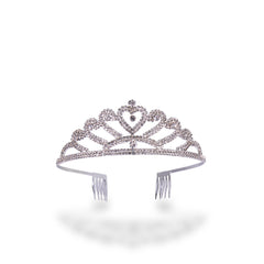 Rhinestone Tiara with Heart