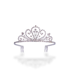 Rhinestone Tiara with Clover Design