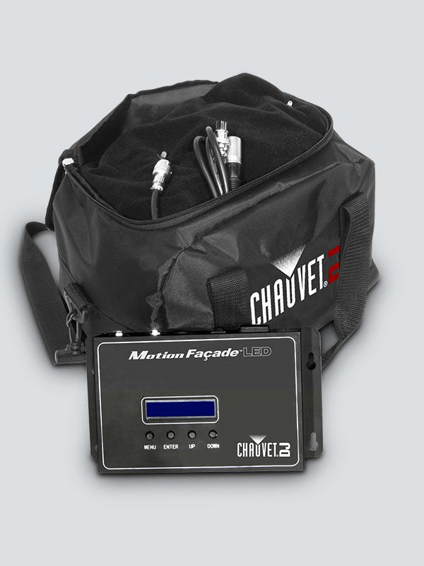 Chauvet DJ MotionFaçade LED                                                                                        Includes: Controller, Signal Cable, Replacement LEDs, Carry Bag