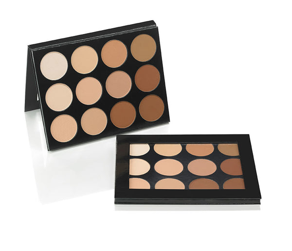 Mehron Celebre Pro-HD Pressed Powder Foundation- Contour & Highlight Palette - 12 shades