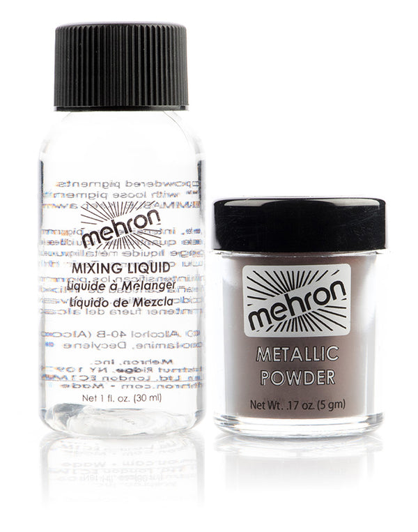 Mehron Metallic Powder w/ Mixing Liquid