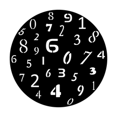 Apollo Numeral Breakup Gobo