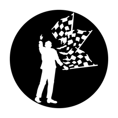 Apollo Sports Car - Racing Man with Flag Gobo