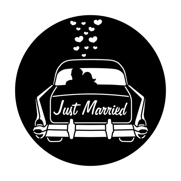 Apollo Wedding Getaway Car Gobo
