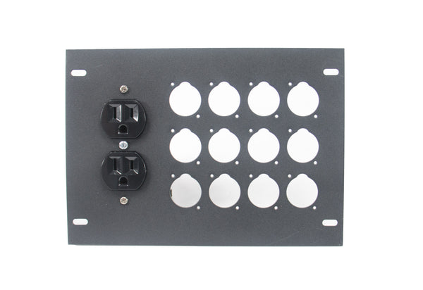 Elite Core FBL-PLATE-12+AC Plate for FBL Floor Box With AC Duplex - no connectors