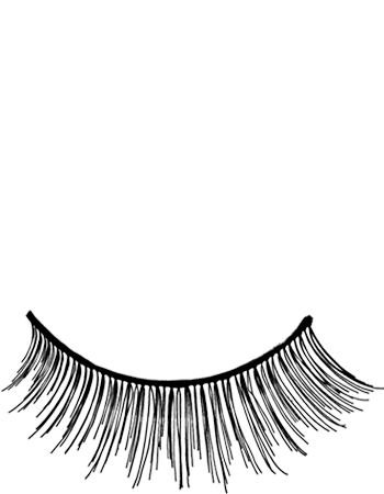 Kryolan Eyelash TV Black - TV3 - Black