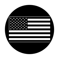 Apollo American Flag Flat Gobo