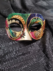 Ornate Gold Mask with Colors