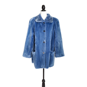 Baby Blue Sheared Beaver Jacket