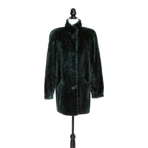 Bottle Green Sheared Beaver Jacket