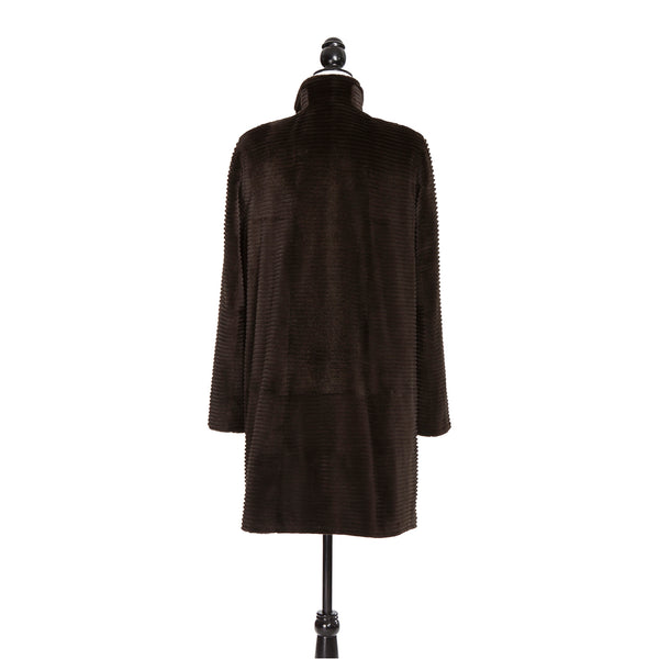 Bisang Brown Horizontal Sheared Mink Short Coat